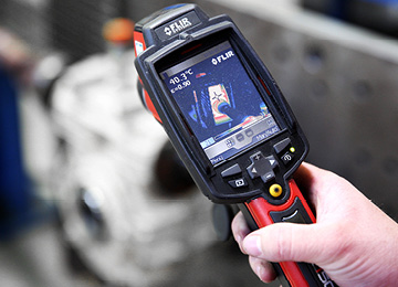 Thermografie Getriebe Reparatur